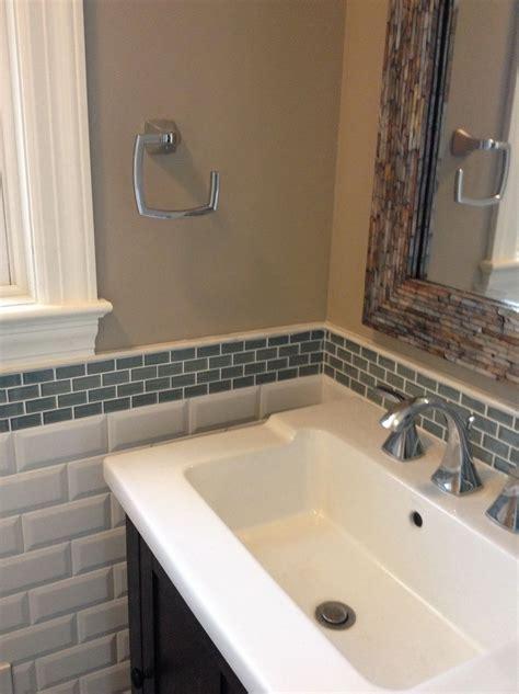 Glass Tile Backsplash In Bathroom   Home Designs