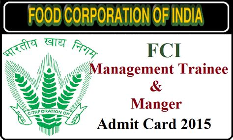 fci 2015 admit card herunterladen links