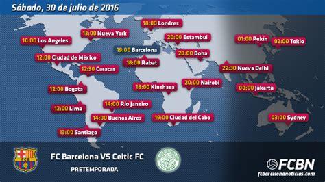 FC Barcelona vs Celtic Glasgow horarios tv