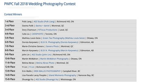 Best Places To Register For A Wedding Canada