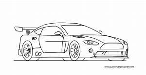 How To Draw A Race Car Easy For Kids | Junior Car Designer