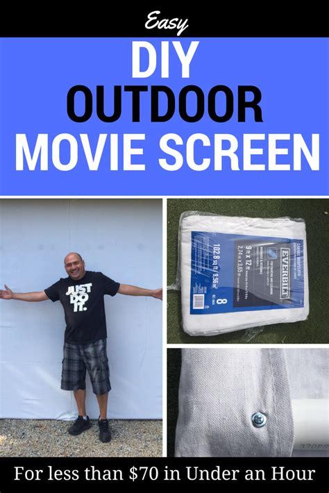 easy diy outdoor  screen    hour