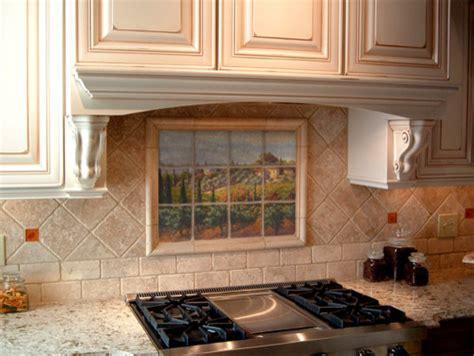 kitchen backsplash tile murals tuscan marble tile mural in kitchen backsplash