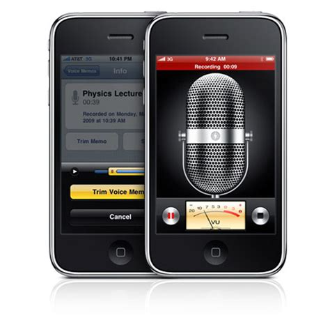 iphone audio recorder iphone 3gs voice recorder technabob