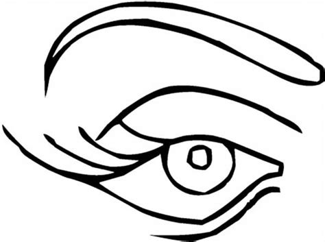 eye pages printable coloring pages