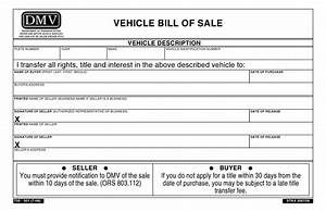 oregon dmv bill of sale form asliaetherairco With dmv documents bill of sale
