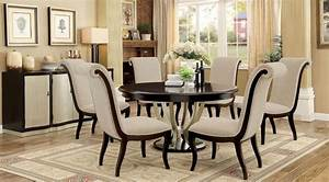 Ornette Espresso Round Dining Room Set From Furniture Of