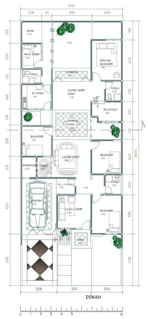 desain denah rumah mewah  lantai