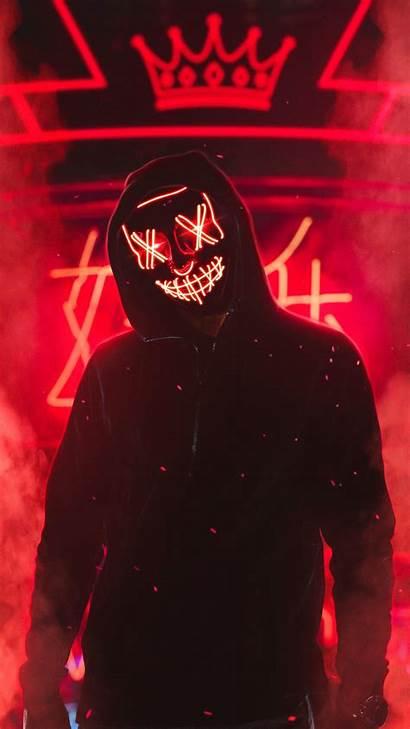Neon Mask Guy 4k Mobile