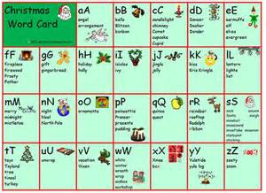 Christmas Vocabulary Z Words