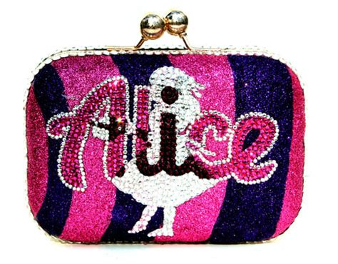 Alice In Wonderland With The Cheshire Cat Glitter Clutch