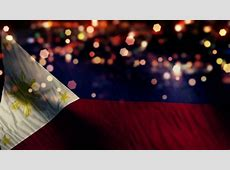 Philippines Flag Light Night Bokeh Abstract Loop Animation