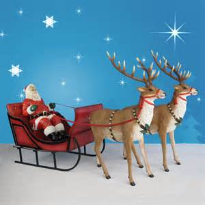 120 quot wide santa sleigh two reindeer set