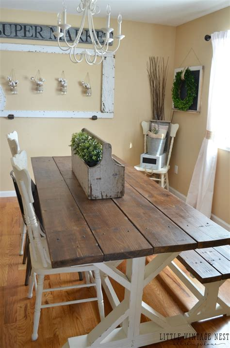 Modern Farmhouse Dining Room Makeover  Little Vintage Nest. Stair Railing. Colonial Columns. Barricato Granite. Wicker Drawer Organizer. Recessed Shelves. Costco Bali Blinds. Clear Glass Chandelier. Cast Iron Bistro Set