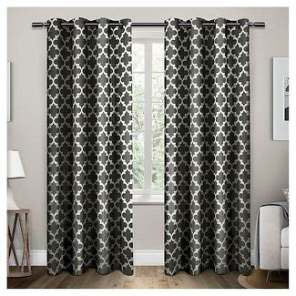Black And White Drapes At Target - black and white curtains target