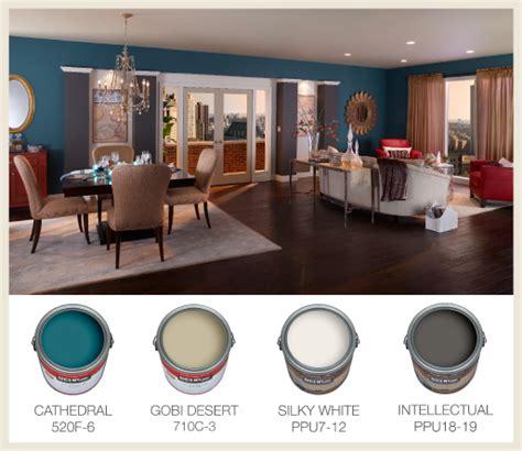 choose paint colors   open floor plan