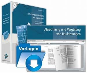 Vob Abrechnung : abrechnung und verg tung von bauleistungen zahlungsplan praxishandbuch ~ Themetempest.com Abrechnung