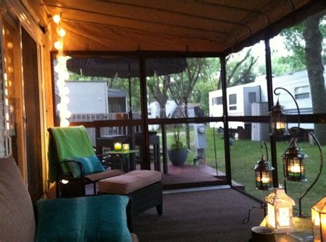 trailer sunrooms decoration 1000 images about travel trailer porches on