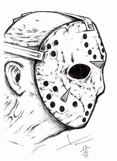 Jason Voorhees Coloring Desenhos Drawings Pages Friday