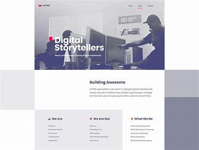 Unfold Examples Website Successful Unique Team Simple