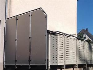Sichtschutz Für Balkongeländer : metallbau kliewer balkongel nder sichtschutz ~ Markanthonyermac.com Haus und Dekorationen