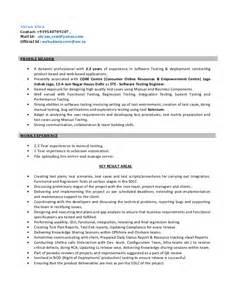 resume for testing resume for software test engineer