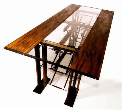 Dining Table Custom Contemporary Industrial Wood Metal