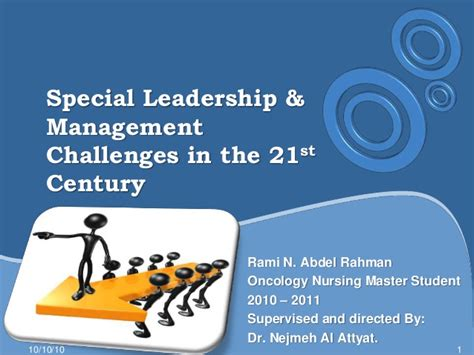 special leadership management challenges   st century