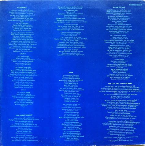 Kenneth Mckellar Skye Boat Song Lyrics by My Personal Record Guide Joni Mitchell Blue Reprise K