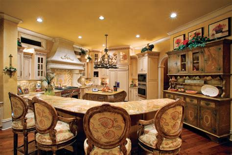 the kitchen collection inc sater design collection 39 s 8068 quot villa sabina quot home plan mediterranean kitchen by sater