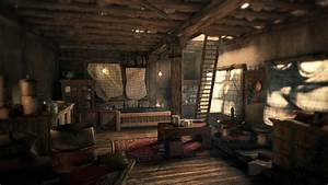 Hut interior by girish 3dtotal forums for Fallout 4 interior decorating
