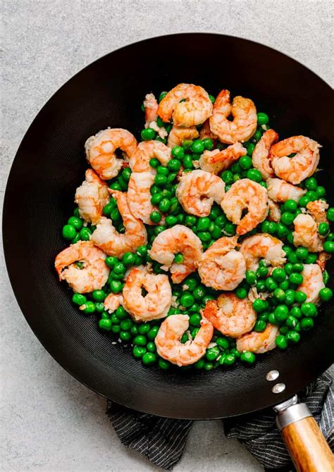 shrimp  green peas stir fry posh journal