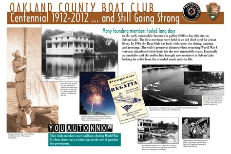 Oakland County Boat Club by Wayside Exhibits Greater West Bloomfield Historical Society