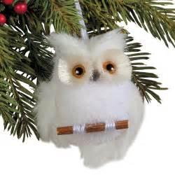 snowy owl ornament set sturbridge yankee workshop