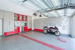 Mancave design garage modern with garage organization