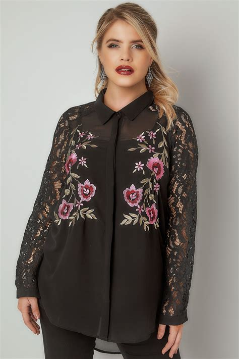 S London Blackoral Embroidered Shirt With Lace