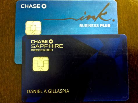 chase ink    chase sapphire preferred  arriving