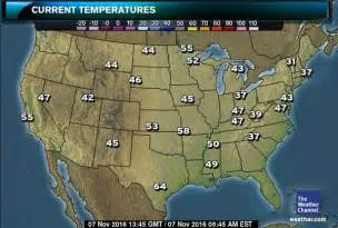 Current National Weather Temperature Map