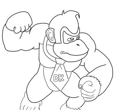 Donkey Kong (inked) By Michaelanthonyhalljr On Deviantart