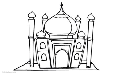 mosque  ramadan coloring pages  printable coloring