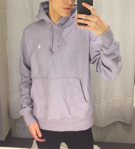 Sweater: purple, champion, sweatshirt, lavender purple