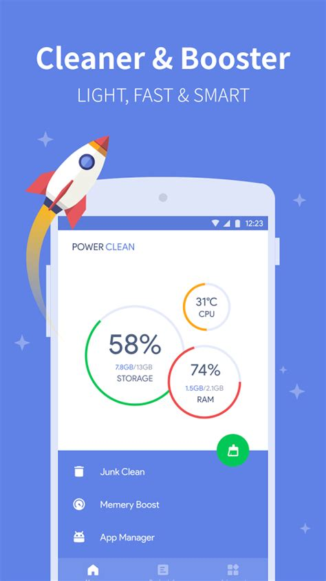 clean viruses my phone power clean anti virus cleaner and booster app android