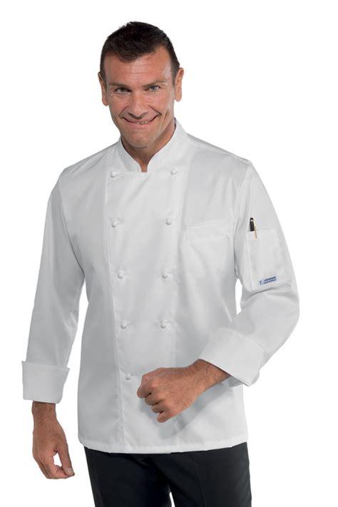 veste de cuisine homme brodé veste cuisine coupe slim pour homme 100 coton sans repassage