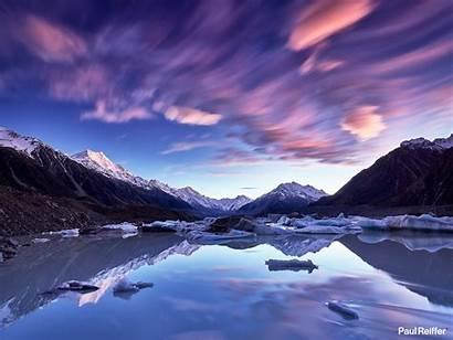 Zealand Tasman Lake Sunrise Cook Mount Aoraki