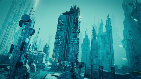 Sci Fi Cityscape 3D asset   CGTrader