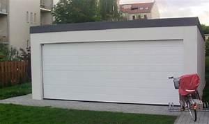 Garage 2 Voitures : garage m tallique toit plat cr pis 2 voitures porte large ~ Melissatoandfro.com Idées de Décoration