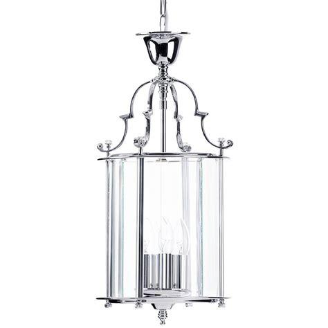 chrome pendant light lancashire small 3 light ceiling pendant lantern chrome
