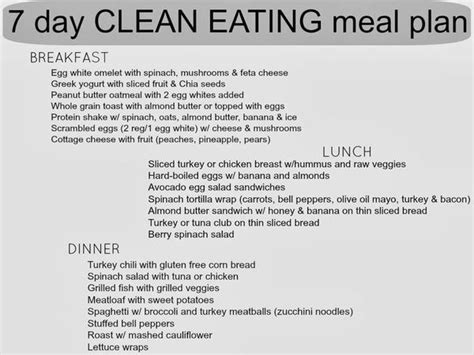 clean healthy food