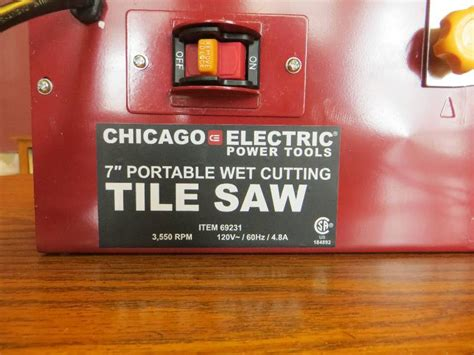 chicago electric tile saw 7 7 quot portable cut tile saw chicago electric tool
