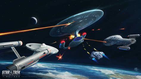 star trek timelines  original starship art